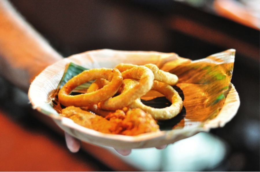 Bhat recommends kodubale, served with coconut chutney on Thindi Street in Bangalore.
