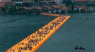 Christo explained that he and Jeanne-Claude chose the lake because of its marvelous location to the island, which has a population of only 2,000 people.