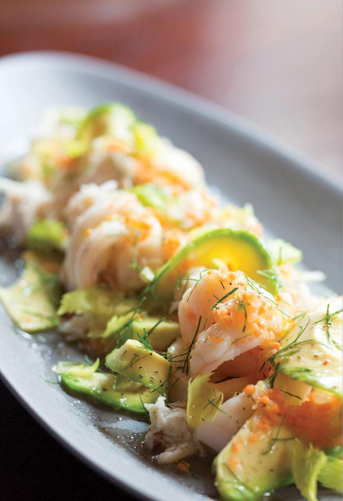 Warm seafood salad at Mercato, Jean-Georges Vongerichten's newest outpost on the Bund.