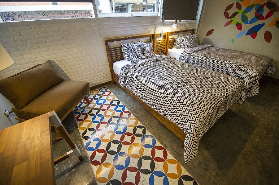 Type A rooms can come with twin beds.