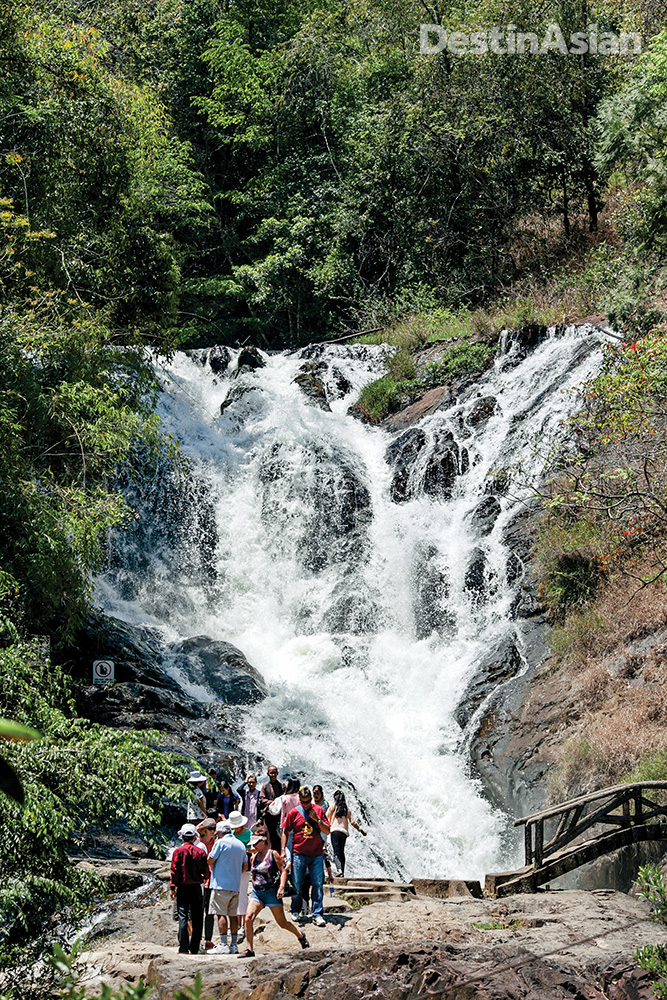 The multi-tiered Datania Falls is a popular tourist site within easy reach of town.