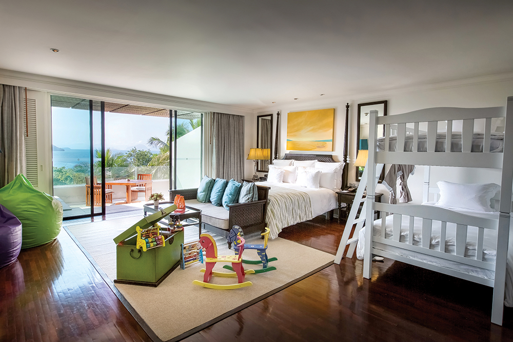 Bunk beds and more in the InterContinental's new rooms for families.