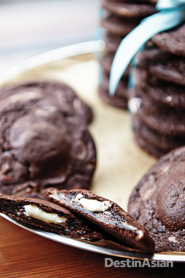 Vera van Stapele's signature chocolate cookies.