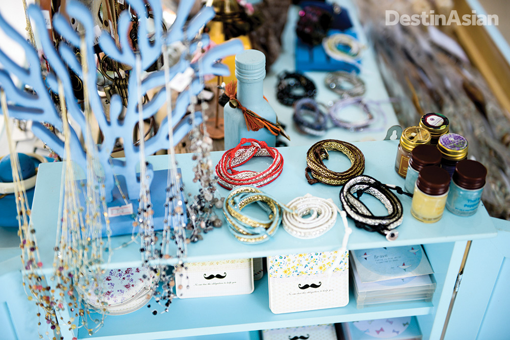 Samui-style bling at The Wharf's Blue Vanilla shop.