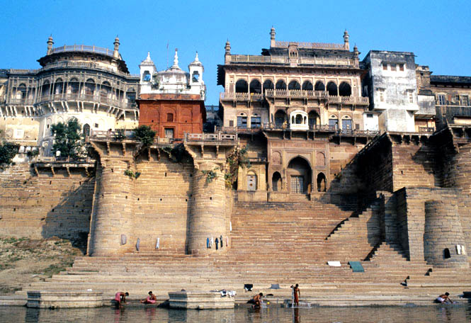 The Mughal-style sandstone fort of Ramnagar, upriver from Varanasi proper, is the ancestral home of the maharaja of Banaras.