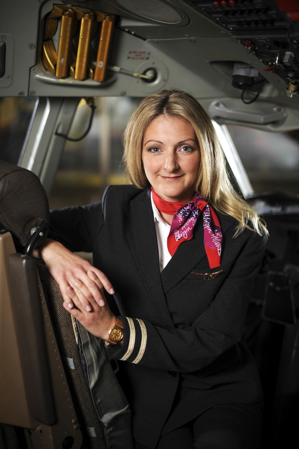 Female pilot uniforms for Virgin Atlantic.
