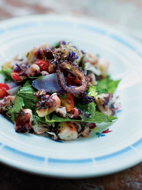 An octopus salad at Vivant Cave.