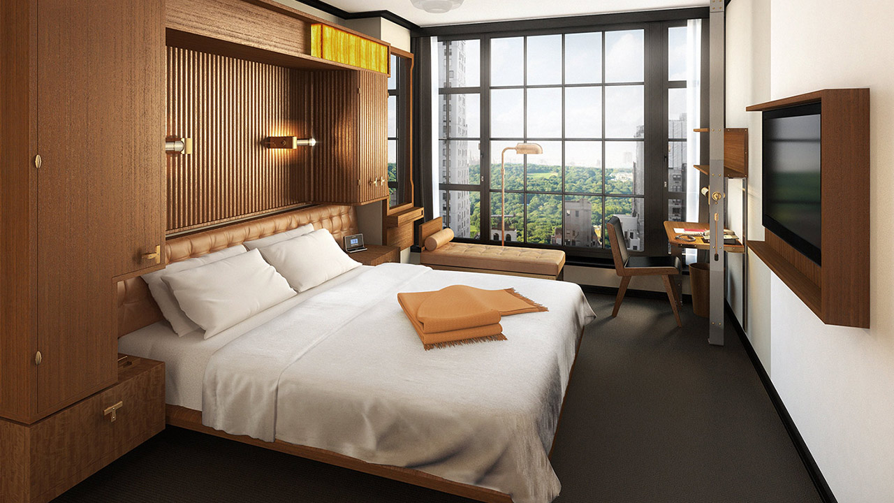 Many of the guest rooms enjoy views of Central Park.