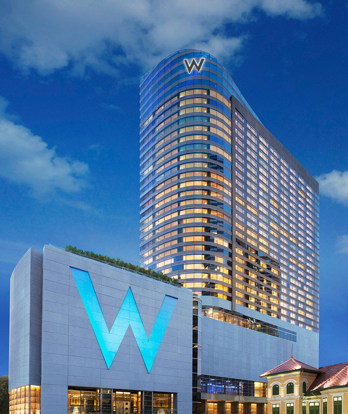 The exterior of the W Bangkok.