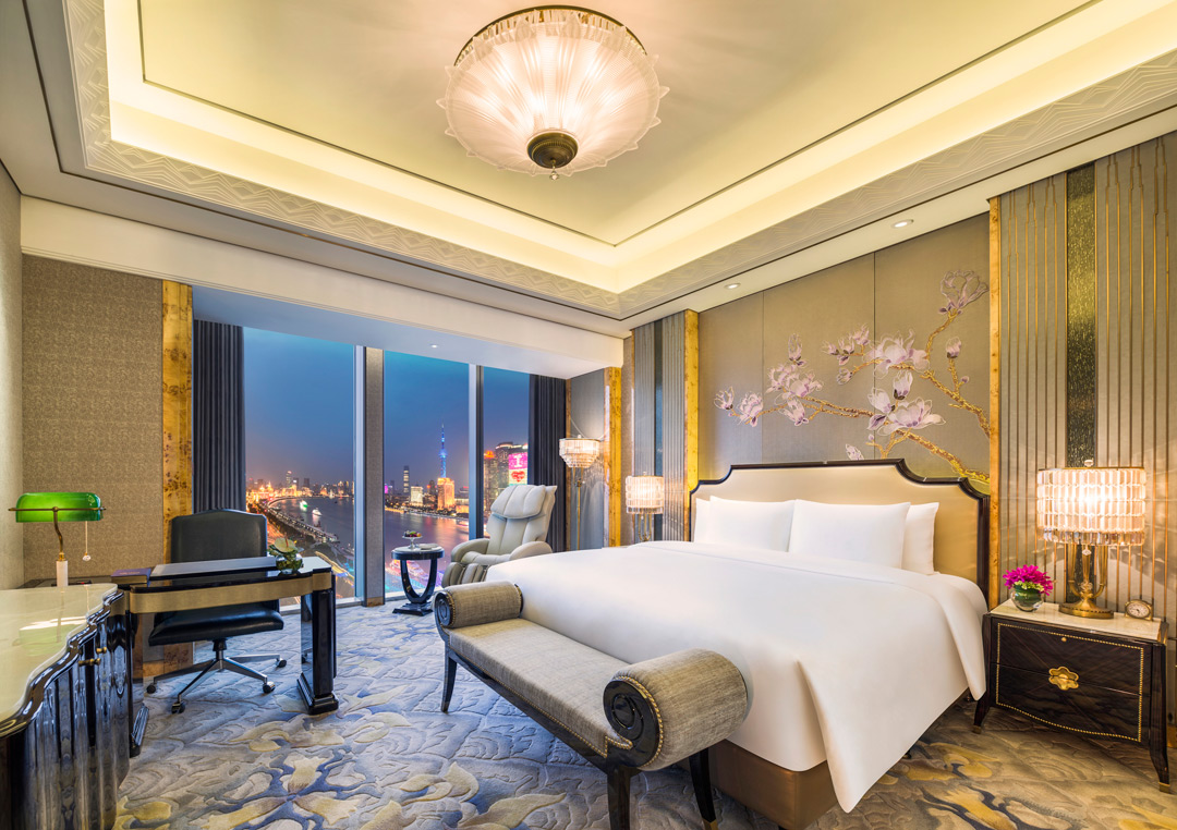 Inside the Grand Deluxe Bund View Room.