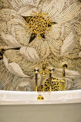 Opulent bathroom details.