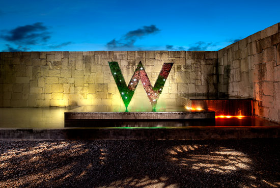 The entrance to the W Bali.