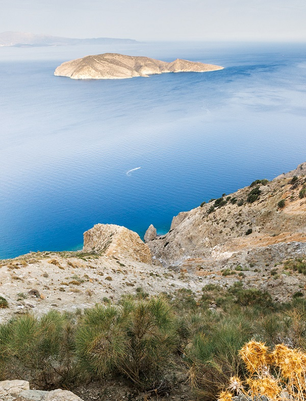 A picture-perfect view across Mirabello bay toward Elounda.