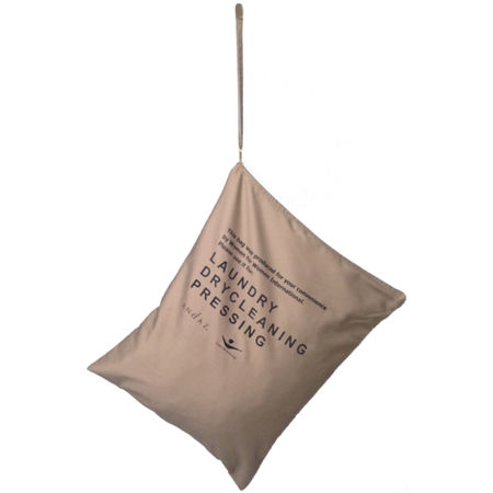 The laundry bag found in Andaz properties worldwide was made by women in Iraq.