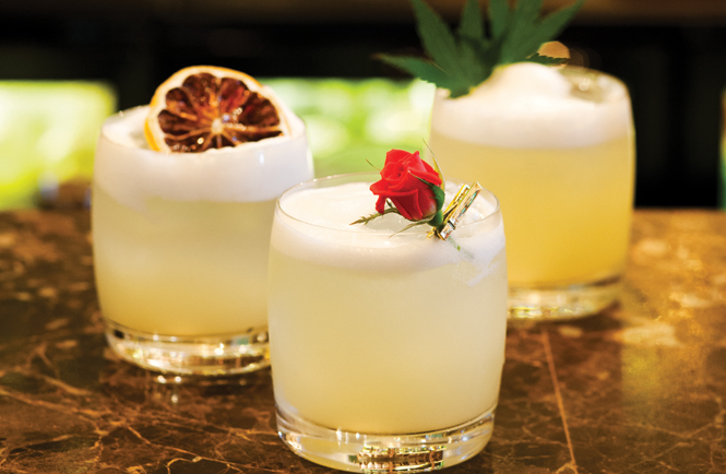 Fat Cow's variation on the whisky sour.