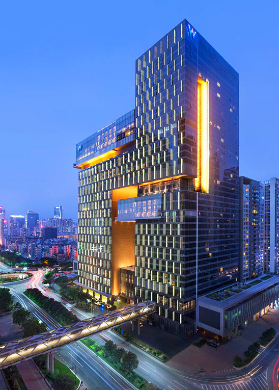 The hotel is W Group's first property in mainland China.