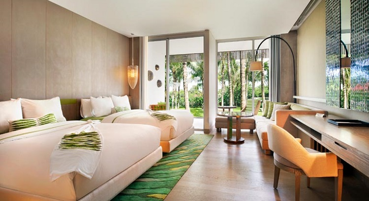 Room with a garden view at W Bali.