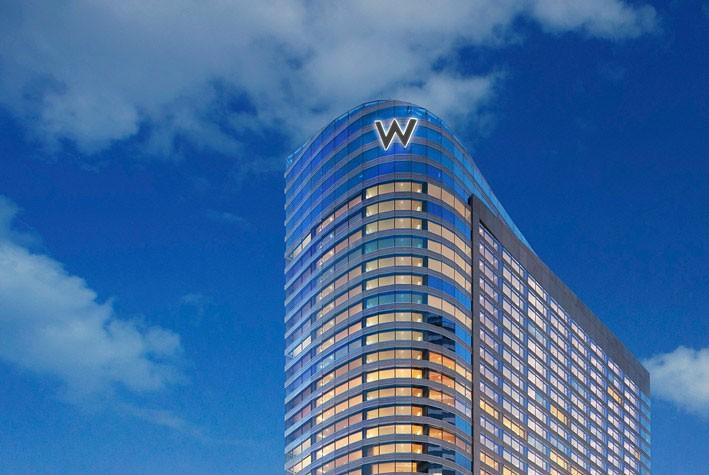 The W Bangkok includes an eye-shaped swimming pool.