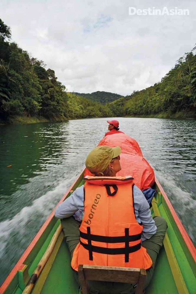 Getting to Nanga Sumpa involves a 90-minute longboat ride upriver from Batang Ai Lake. All photos by Mark Eveleigh.