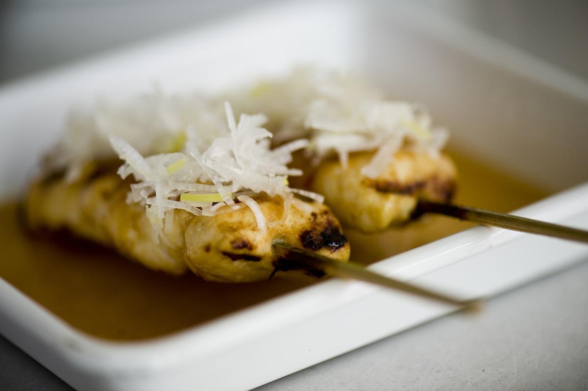 Chicken thigh yakitori from Yardbird.